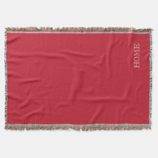 Solid Deep dark red HOME throw blanket