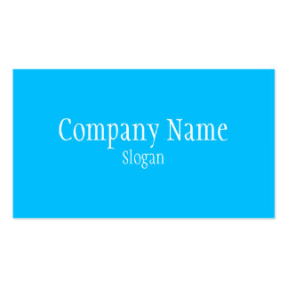 Solid Deep Sky Blue Business Cards