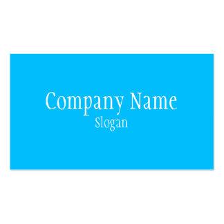 Solid Deep Sky Blue Pack Of Standard Business Cards