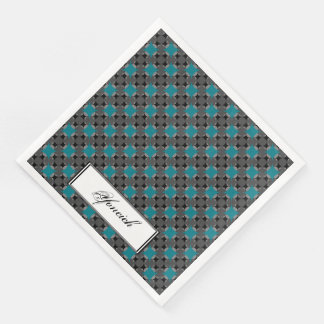 Solid Four Star Circle Cross by Kenneth Yoncich Disposable Napkins
