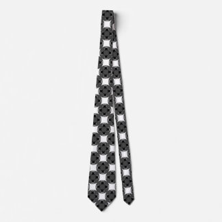 Solid Four Star Circle Cross Tie