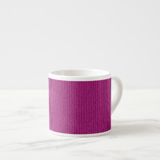 Solid Fuchsia Knit Stockinette Stitch Pattern Espresso Mug