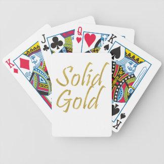Solid Gold Poker Deck