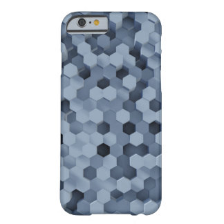 Solid Honeycombs Steel Blue Barely There iPhone 6 Case