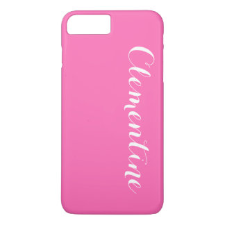 Solid Hot Pink Background, Name Monogram iPhone 8 Plus/7 Plus Case
