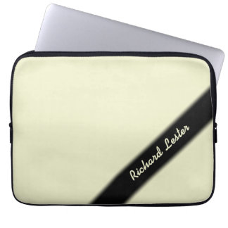 Solid Ivory Personalized Laptop Sleeve
