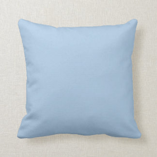 Solid Light Blue Throw Pillow Cushion