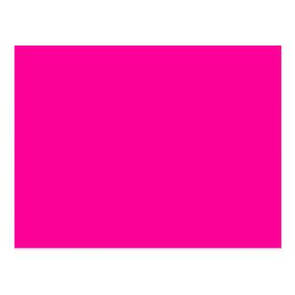 Solid Magenta Background Web Color FF0099 Postcard