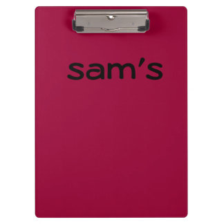 Solid Maroon Color Clipboard