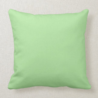 Solid Mint Green Throw Pillow