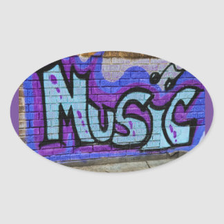 Solid Music Oval Sticker