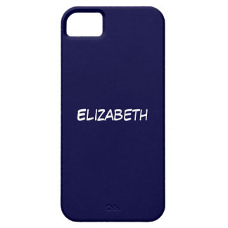 Solid Navy Blue Blue Background, Name Monogram Barely There iPhone 5 Case