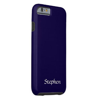Solid Navy Blue Personalized Tough iPhone 6 Case