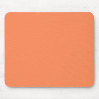 Solid Nectarine Orange Mouse Pad