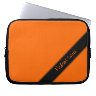 Solid Orange Laptop Sleeve