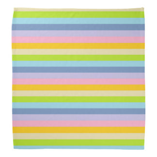 Solid Pastel Rainbow Stripes Bandana