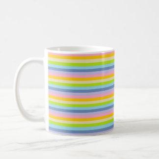 Solid Pastel Rainbow Stripes Coffee Mug