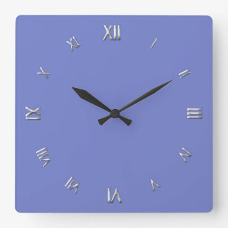 Solid Periwinkle Blue Wall Clock