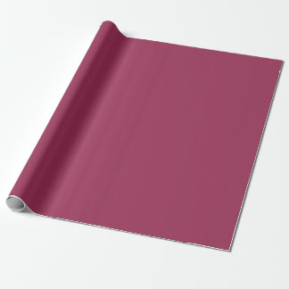 solid / plain Sangria colour / colour. Wrapping Paper