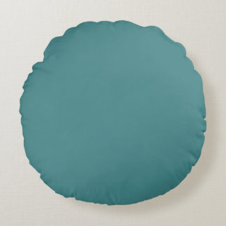 solid / plain teal colour / colour. round cushion