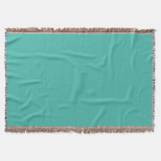 solid / plain turquois colour / colour. throw blanket