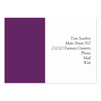 solid PLUM Business Cards