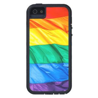 Solid Pride - Gay Pride Flag Closeup iPhone 5 Cases