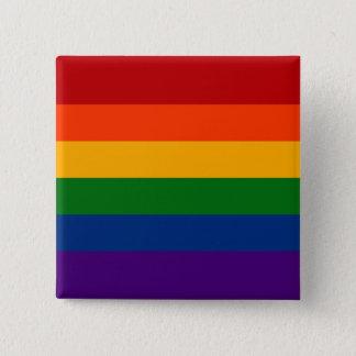 Solid Rainbow Pride Flag 15 Cm Square Badge