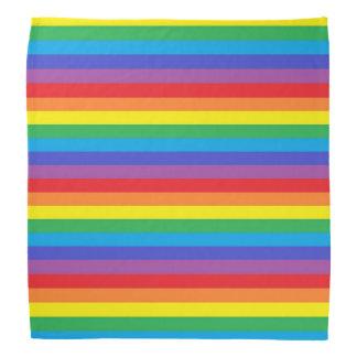 Solid Rainbow Stripes Bandana