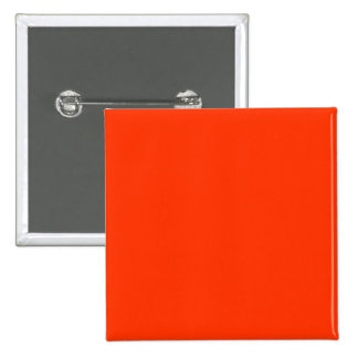 Solid Red Background Web Color FF3300 15 Cm Square Badge