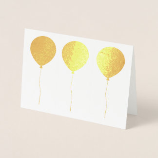Solid Shaped Balloons in a Line Foil Card