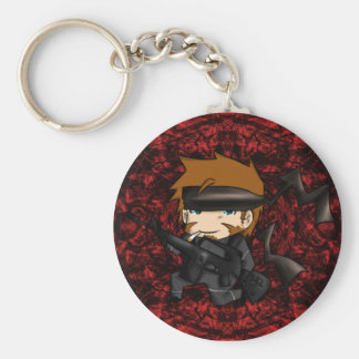 Solid snake M15A2 Basic Round Button Key Ring