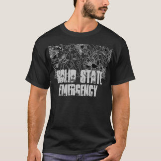 Solid State Emergency Black T-Shirt