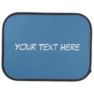 Solid Steel Blue Background, Name Monogram Floor Mat