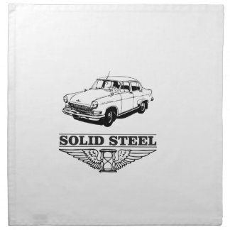 solid steel car white napkin