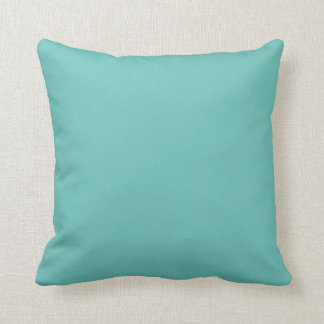 Solid teal blue  pillow throw cushions