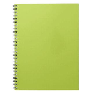Solid Tender Shoots Green Notepad Notebook