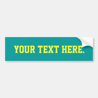 Solid Turquoise 009999 Color Background Bumper Sticker