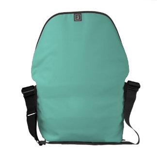 Solid Turquoise Messenger Bag