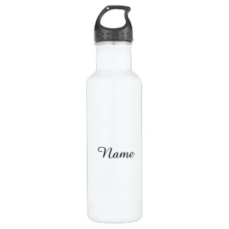 Solid White Personalized 710 Ml Water Bottle
