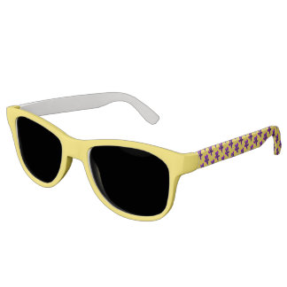 Solid Yellow Front, Purple Tulip Arms Sunglasses