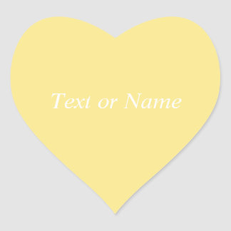 Solid YELLOW Heart Stickers