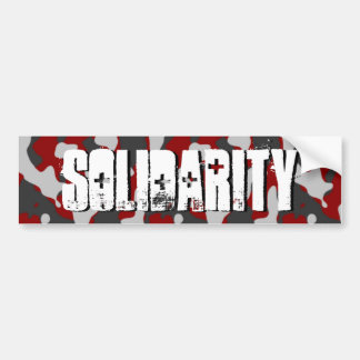Solidarity 3-D Camo-Military Support by SKO Bumper Sticker