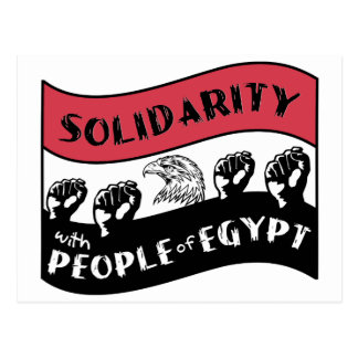 Solidarity with People of Egypt Postcard