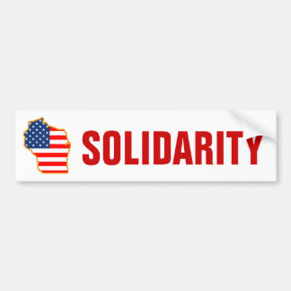 Solidarity with Wisconsin Workers Bumper Sticker