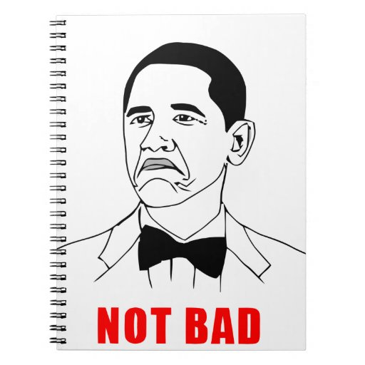 solidchainwear not bad Obama Spiral Notebook