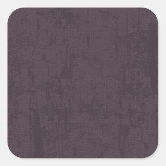 solidN RICH DARK PURPLE VELVET GRUNGE TEXTURE BACK Square Sticker
