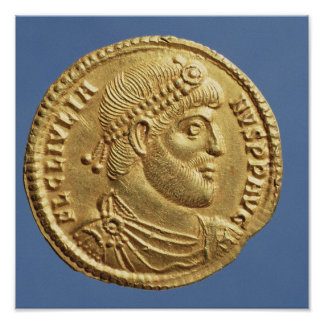 Solidus  of Julian the Apostate  draped Poster