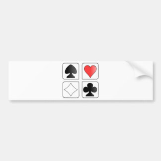 solitaire Cards Design Bumper Sticker