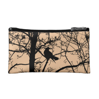 Solitary Crow Cosmetic Bag